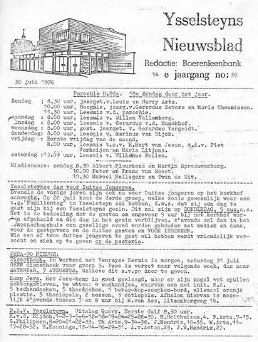 Ysselsteyns Nieuwsblad 1976-07-30