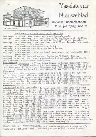 Ysselsteyns Nieuwsblad 1975-05-16