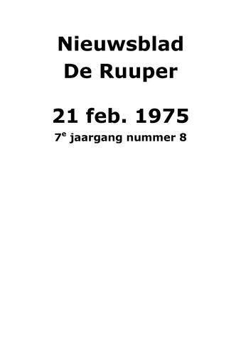 Dorpsblad Leunen-Veulen-Heide 1975-02-21
