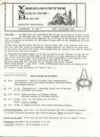 Ysselsteyns Nieuwsblad 1991-11-29