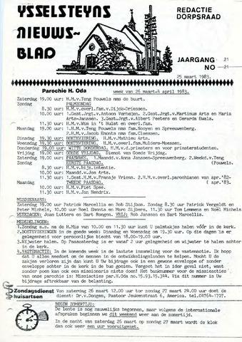 Ysselsteyns Nieuwsblad 1983-03-25