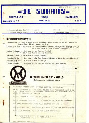 Castenrays dorpsblad De Schans 1984-11-09