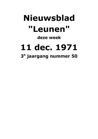 Dorpsblad Leunen-Veulen-Heide 1971-12-11