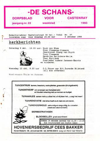 Castenrays dorpsblad De Schans 1993-10-08