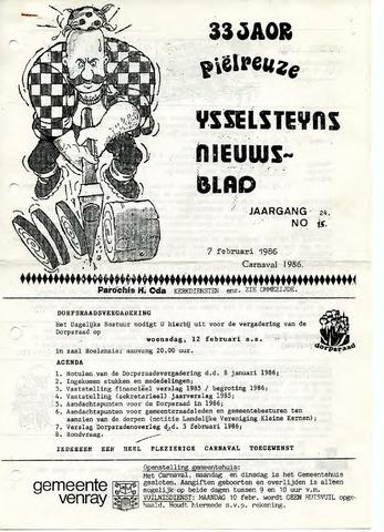 Ysselsteyns Nieuwsblad 1986-02-07