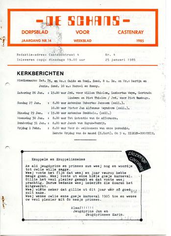 Castenrays dorpsblad De Schans 1985-01-25