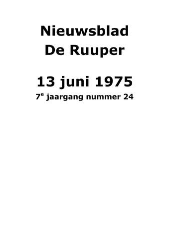 Dorpsblad Leunen-Veulen-Heide 1975-06-13