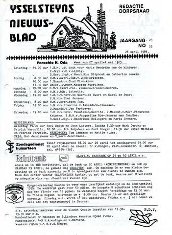 Ysselsteyns Nieuwsblad 1985-04-26