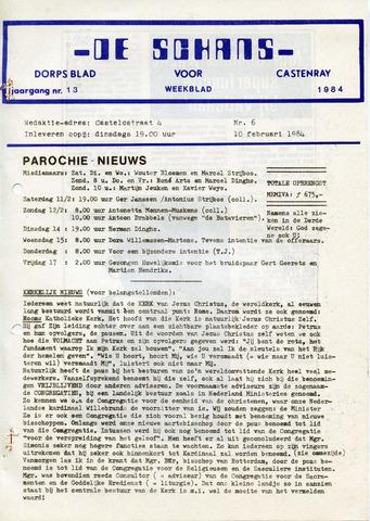 Castenrays dorpsblad De Schans 1984-02-10