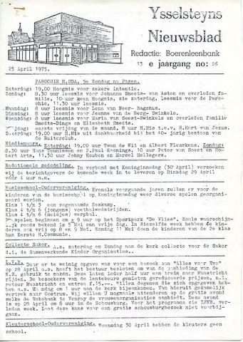 Ysselsteyns Nieuwsblad 1975-04-25