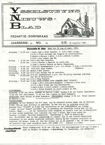 Ysselsteyns Nieuwsblad 1986-08-29