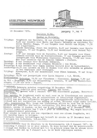 Ysselsteyns Nieuwsblad 1970-12-24