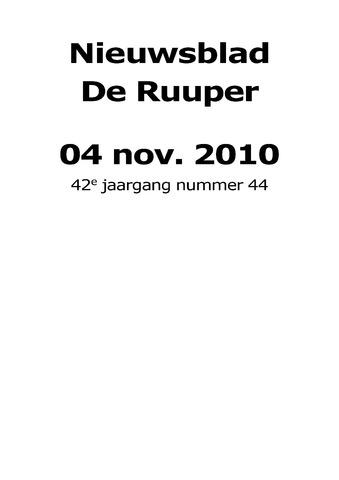 Dorpsblad Leunen-Veulen-Heide 2010-11-04