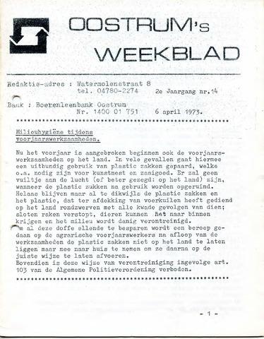 Oostrum's Weekblad 1973-04-06