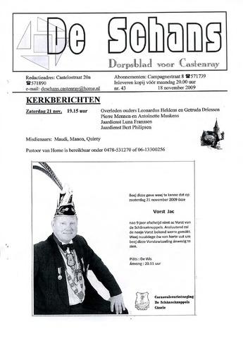 Castenrays dorpsblad De Schans 2009-11-18