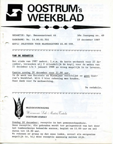 Oostrum's Weekblad 1987-12-17