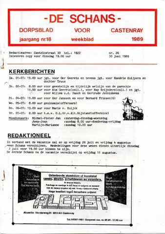 Castenrays dorpsblad De Schans 1989-06-30