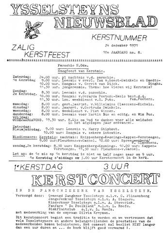 Ysselsteyns Nieuwsblad 1971-12-24