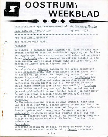 Oostrum's Weekblad 1977-08-25