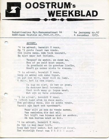 Oostrum's Weekblad 1975-12-04