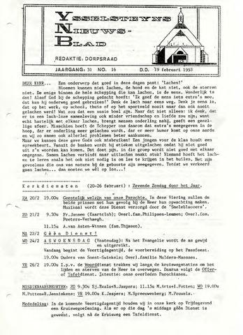 Ysselsteyns Nieuwsblad 1993-02-19