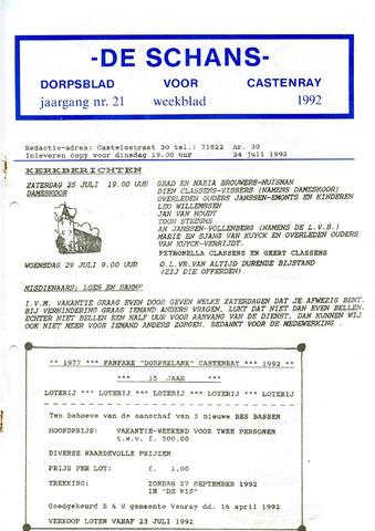 Castenrays dorpsblad De Schans 1992-07-24