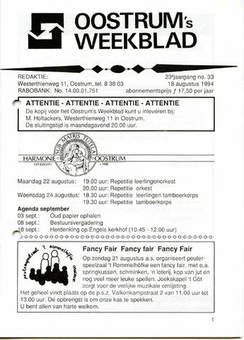 Oostrum's Weekblad 1994-08-18