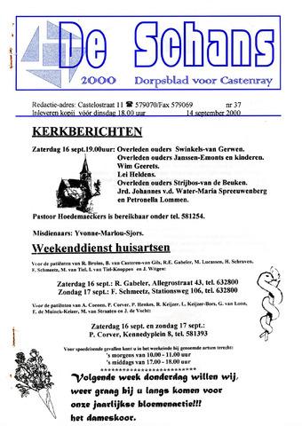 Castenrays dorpsblad De Schans 2000-09-14
