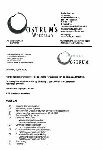 Oostrum's Weekblad 2006-06-08