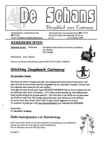 Castenrays dorpsblad De Schans 2009-11-11