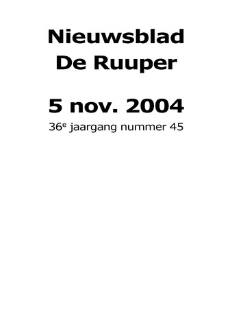 Dorpsblad Leunen-Veulen-Heide 2004-11-05