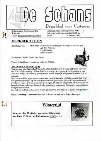 Castenrays dorpsblad De Schans 2007-10-24