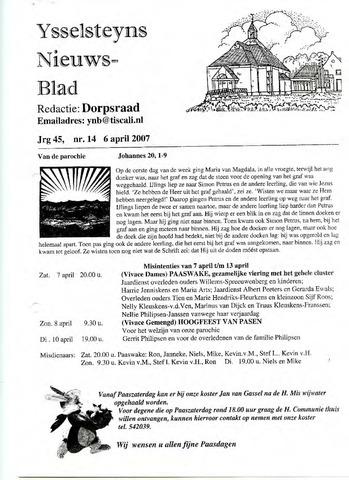 Ysselsteyns Nieuwsblad 2007-04-06