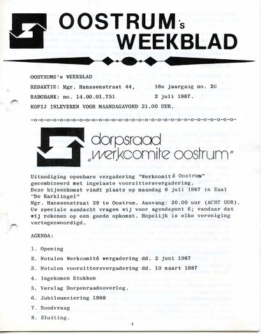 Oostrum's Weekblad 1987-07-02