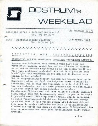 Oostrum's Weekblad 1973-01-26