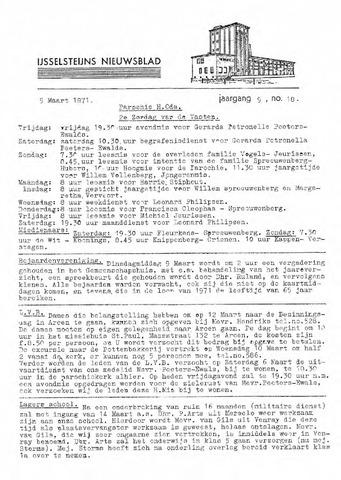 Ysselsteyns Nieuwsblad 1971-03-05
