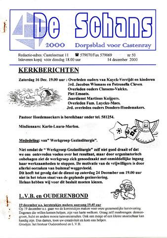 Castenrays dorpsblad De Schans 2000-12-14