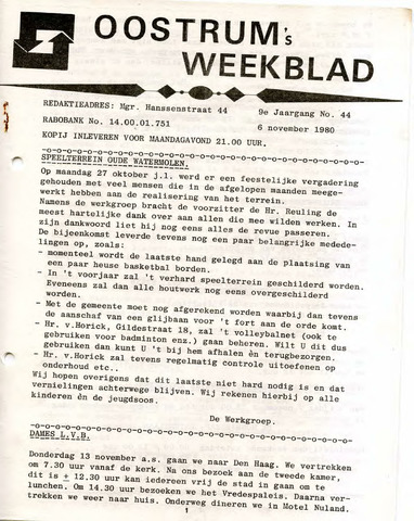 Oostrum's Weekblad 1980-11-06