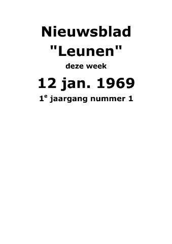 Dorpsblad Leunen-Veulen-Heide 1969
