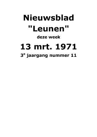 Dorpsblad Leunen-Veulen-Heide 1971-03-13