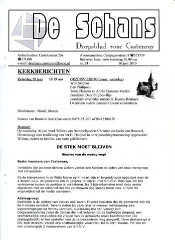Castenrays dorpsblad De Schans 2010-06-16