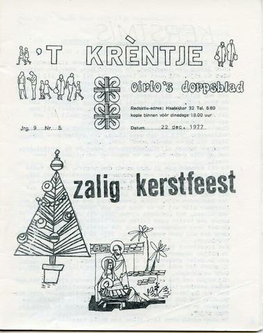 Oirlo's dorpsblad 't Krèntje 1977-12-22