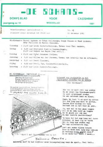 Castenrays dorpsblad De Schans 1981-12-11
