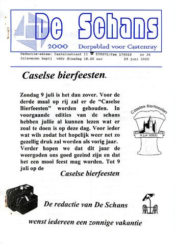 Castenrays dorpsblad De Schans 2000-06-29