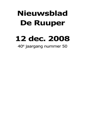 Dorpsblad Leunen-Veulen-Heide 2008-12-12