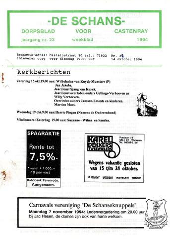 Castenrays dorpsblad De Schans 1994-10-14
