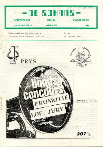 Castenrays dorpsblad De Schans 1986-10-24