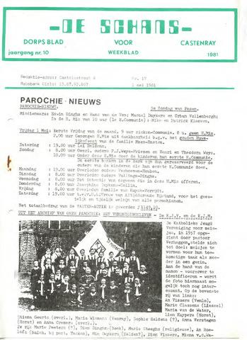 Castenrays dorpsblad De Schans 1981-05-01