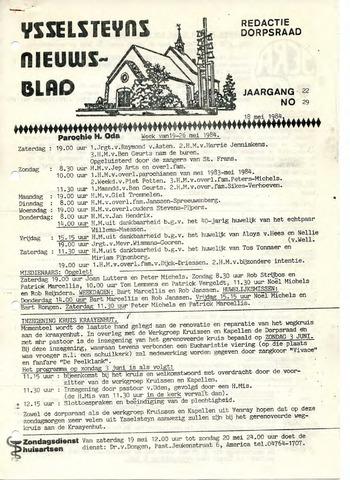 Ysselsteyns Nieuwsblad 1984-05-18