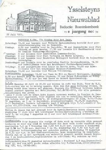 Ysselsteyns Nieuwsblad 1975-07-25